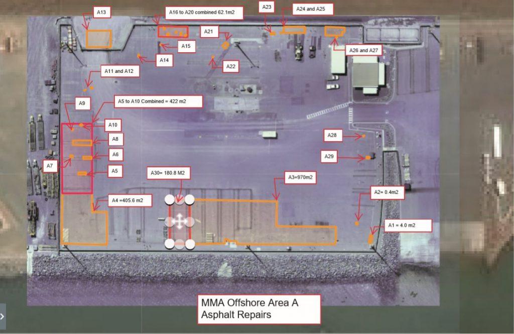Drone Map of Asphalt Repair